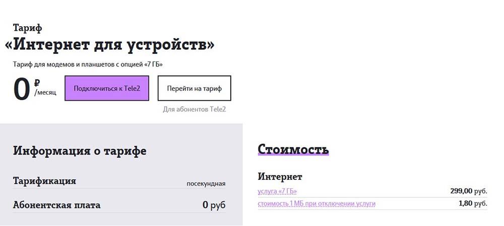tele2 домашний интернет